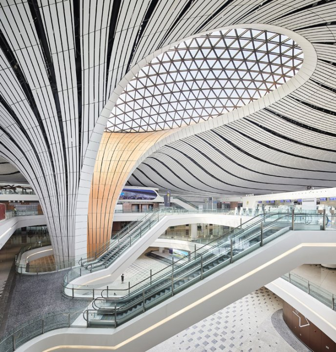 Der Beijing Daxing International Airport entworfen von Zaha Hadid Architects.